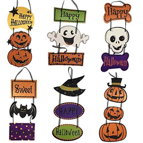 ODOSAN Cute Halloween Party Hanging Decorations Triplex Paper
