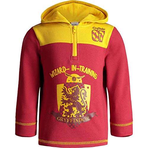 Sweater Costume Gryffindor (Warner Bros. Harry Potter Toddler Boys' Half-Zip Pullover Fleece Hoodie, Red)