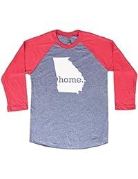 Georgia Home 3/4 Length Baseball Style Raglan T-Shirt
