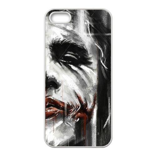 Batman Joker coque iPhone 5 5S Housse Blanc téléphone portable couverture de cas coque EBDOBCKCO09043