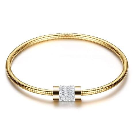 BOBO Cadena de diamantes para mujer, pulsera con ...