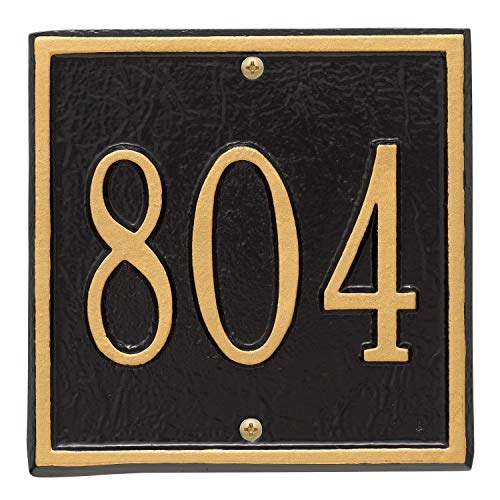 Whitehall Doors - Whitehall Personalized Cast Metal Address Plaque - Square 6