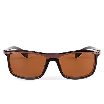 b4bb8da6db Sakuldes Gafas de Sol polarizadas para Hombres sin Reflejos 100% de Bloqueo  UV (Color : Tea Frame/Tea Lens): Amazon.es: Hogar