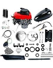 "YaeTool 49cc Powerful Pull Start 4-Stroke Cycle Motor Kit 4 Stroke Bicycle Engine Kit Compete Gas Kit Motorized Bike Petrol Gas Bicycle Engine for 28"" V frame Bike and 26"" ATV"