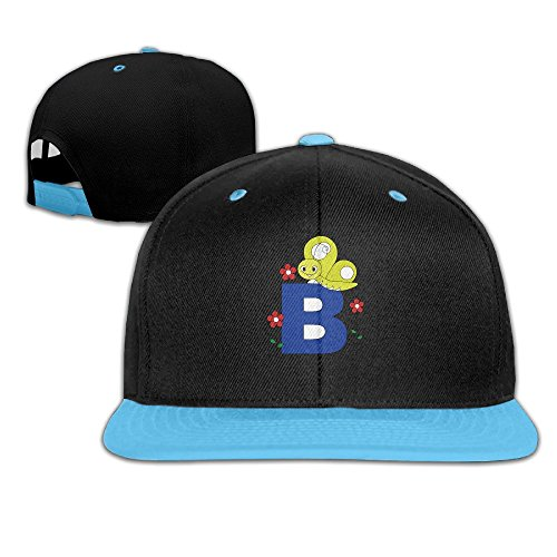 bee-rest-in-the-head-of-letter-b-kids-adjustable-snapback-hat-baseball-caps