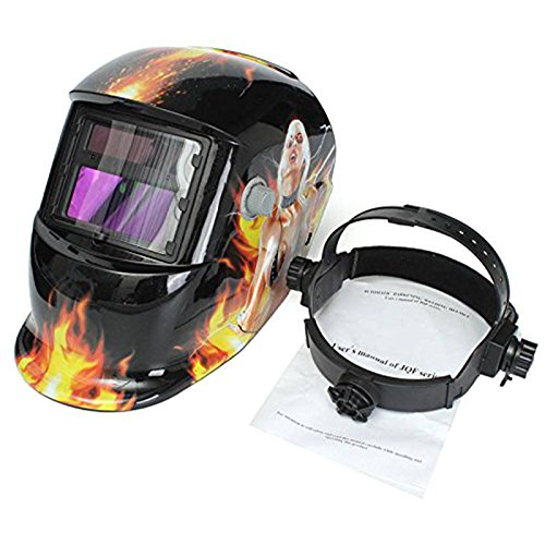 SODIAL(R) Welding Mask Hood Welding Helmet Solar Automatic(Solar Power for Recharge) Face Protection (Sexy Beauty) by SODIAL(R) (Image #2)