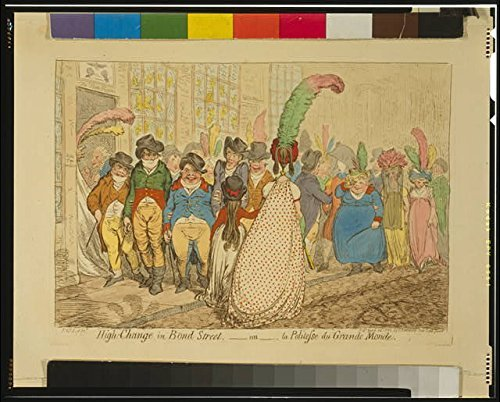 [Photo: High Change in Bond Street, ou la Politesse du Grande Monde, 1796, Great Britain . Size:] (Britain Costume Ideas)