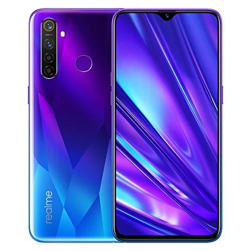 realme 5 Pro 4GB 128GB Smartphone Cellulari, 6.3 '' Snapdragon 712AIE Octa Core 48MP AI Quad Camera 4035mAh, Dual Sim, Versione globale (blu)