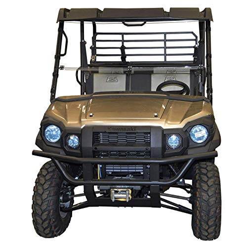 Kawasaki Mule Windshield - Pro FX/DX Series Full Folding - SCRATCH RESISTANT - The Ultimate in SXS Versatility!Premium poly w/Scratch Resistant Hard CoatMade in America!! ()