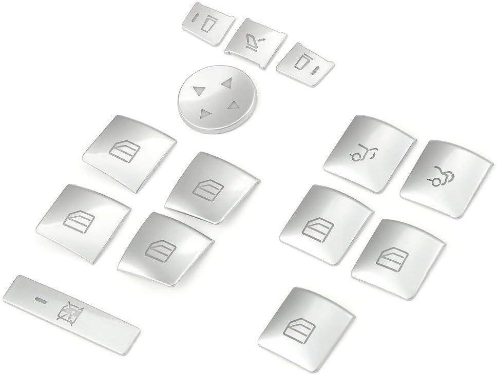 Fensterheber-Abdeckung 4 St/ück//Set Kohlefaser-Fensterheber-Schalttafelabdeckung Passend f/ür RAV4 06-12
