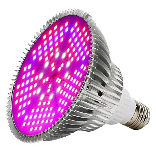 100W Led Grow Light Bulbs Full Spectrum,150 LEDs indoor plant growing lights Lamp for Vegetable Greenhouse Hydroponic, E26 Indoor Grow Light AC 85~265V by EnerEco