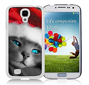 Personalization Samsung S4 TPU Protective Skin Cover Christmas Cat White Samsung Galaxy S4 i9500 Case 6