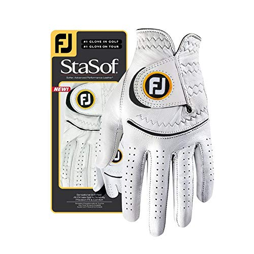 FootJoy Women's StaSof Golf Glove, White Small, Worn on Left -
