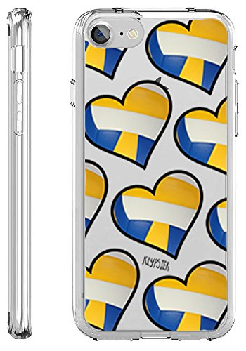 iPhone 7 Case Volley Ball Heart Love Teen Sports Transparent TPU Plastic Designer Case Cover For Teens Girls Women. Fits iPhone 7 7S [ KlypsterLite ]