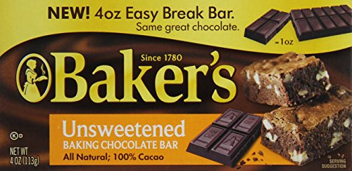 Baker's, Unsweetened Chocolate, 4 oz