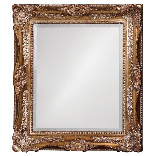 Howard Elliott Thames Mirror, Hanging Rectangular Wall Mirror, Antique Bronze