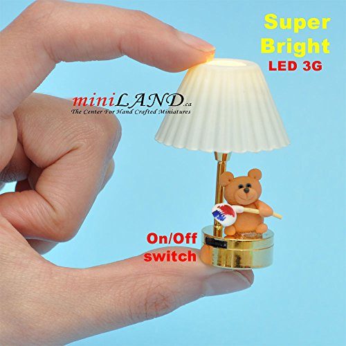 Child table LED LAMP light battery Handmade 1:12 Kid baby Draws a painting for dollhouse miniature 1:12 scale by miniLAND - The Center for Hand Crafted Miniatures