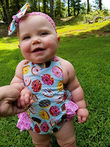(Donut Ruffle Romper, Newborn to girls size 6)