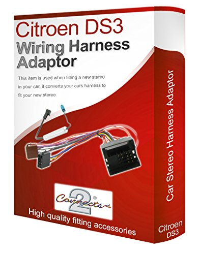 DS3 radio stereo wiring harness adapter lead loom ISO: Amazon.co.uk: Electronics