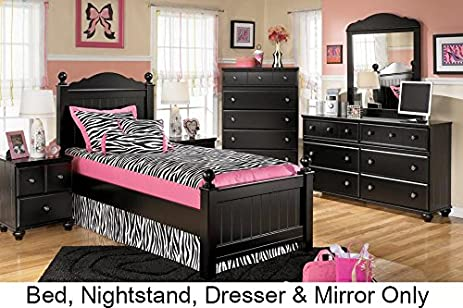 Amazon.com - Ashley Jaidyn Twin Bedroom Set with Youth Poster Bed ...