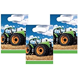 Tractor Time John Deere Favor Treat Bags 24 Guests