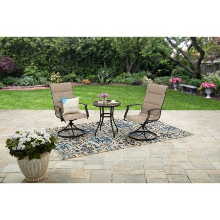 Mainstays Highland Knolls 3pc Outdoor Bistro Set - Tan