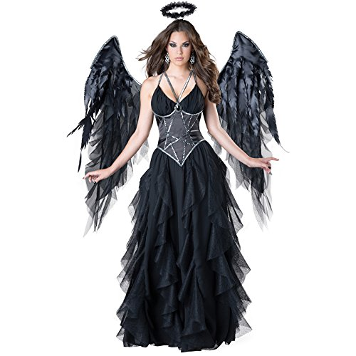 [InCharacter Costumes Women's Dark Angel Costume, Black, Small] (Dark Angel Costumes Women)