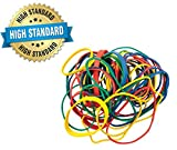 1/2 lb Pack of Colorful Rubber Bands - Assorted Dimensions, Multi...