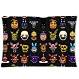 Custom Five Nights at Freddys Pillowcase 20x30 two sides Zippered Rectangle PillowCases Throw Pillow Covers