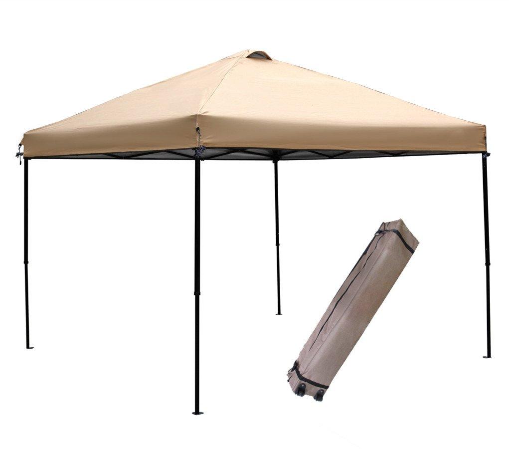 Abba Patio Pop Up Instant Folding Canopy, 10 x 10-Feet, Tan