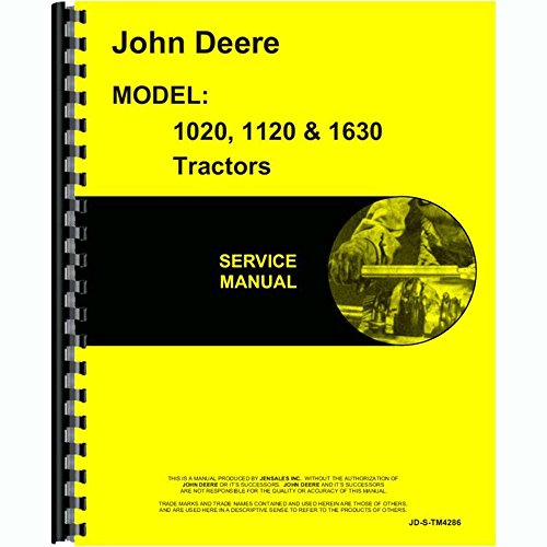 New Service Manual For John Deere Tractor 1020