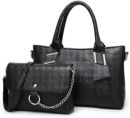 47f724c2ca5 Brown Women's Bag Simple Fashion PU Leather Handbag Wild Single ...