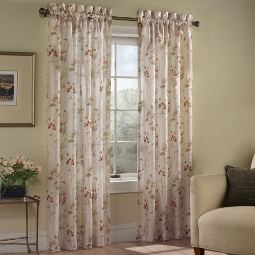 United Curtain Chantelle Window Curtain Panel, 48 by 63-Inch, Multi For Sale