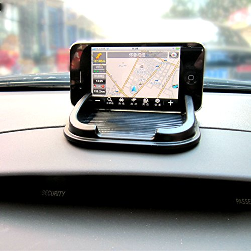 Sticky Pad Roadster Smartphone car Dash Mount-no magnets and no adhesives,Silicone Anti-Slip Pad Dash Mat,Cell Phone Mount Holder Cradle Dock For Any Smartphone such as iPhone X/8/7/6 6s/5/4 (S Plus)