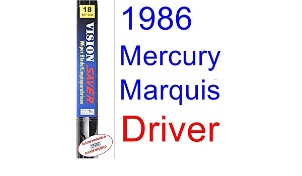 Amazon.com: 1986 Mercury Marquis Wiper Blade (Driver) (Saver Automotive Products-Vision Saver): Automotive