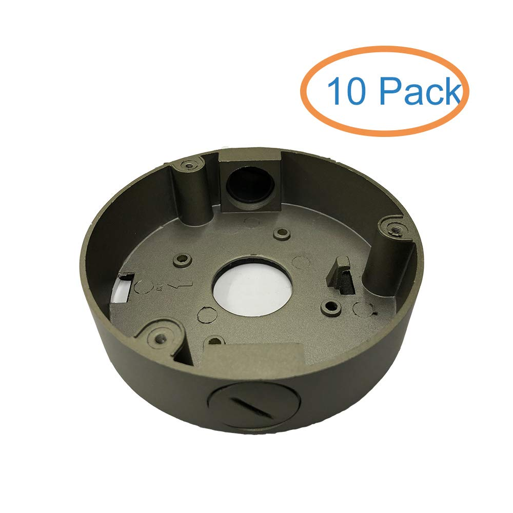 Kenuco Junction Box/Mounting Base Hikvision Turret Camera DS-2CD23x2 (10 Pack, Gray) by KENUCO