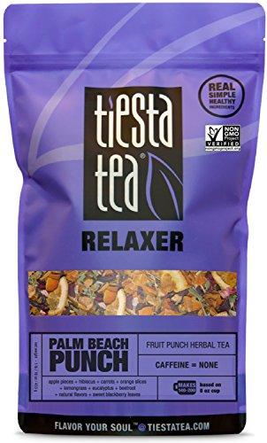 (Tiesta Tea Palm Beach Punch, Fruit Punch Herbal Tea, 200 Servings, 1 Pound Bag, Caffeine Free, Loose Leaf Herbal Tea Relaxer Blend, Non-GMO )