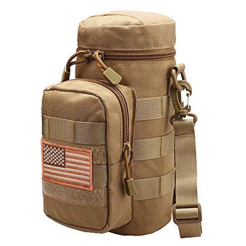 Bottle Holder Khaki - AMYIPO Tactical MOLLE Water Bottle Pouch Holder Storage Bag for 32oz Carrier (Khaki)