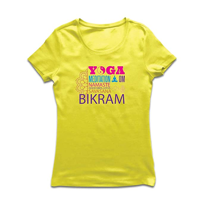 lepni.me Camiseta Mujer Yoga Meditation Om Good Vibes Lotus ...