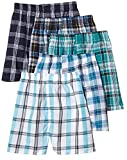 Fruit of the Loom 5Pack Boy's Plaid Boxers Boxer Shorts Kids Underwear M