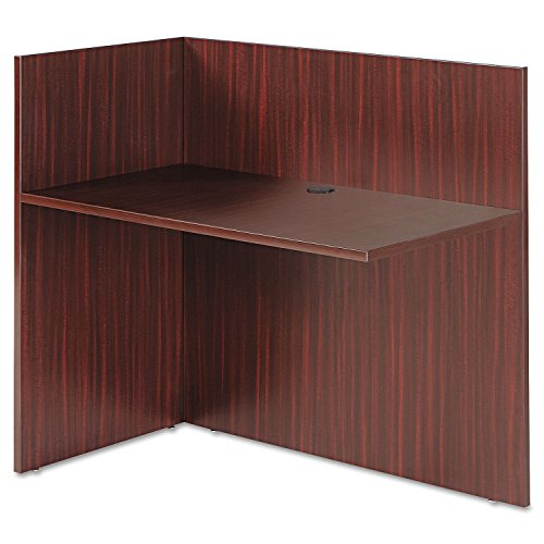 (Alera VA324424MY Valencia Reversible Reception Return, 44 x 23-5/8 x 41-1/2-Inch, Mahogany)