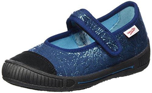 Superfit Mädchen Bella Hausschuhe Blau (WATER KOMBI)
