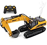 remote control backhoe - Top Race 23 Channel Full Functional Remote Control Excavator Construction Tractor, Full Metal Excavator Toy Can Carry up to 110 Lbs, Digging Power of 1.1 Lbs Per Cubic Inch, Real Smoke, TR-211M