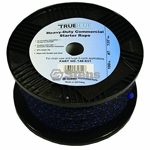 100` True Blue146 931 Recoil Starter Pull Rope #7 Solid Braid Chainsaw Lawnmower