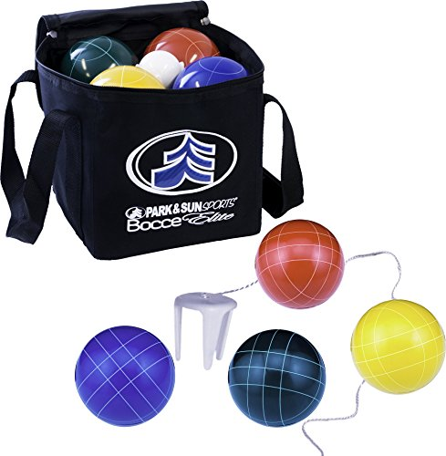 Set Deluxe Ball - Park & Sun Sports Bocce Ball Set with Deluxe Carrying Bag: Tournament Elite, 100 mm Poly-Resin Balls