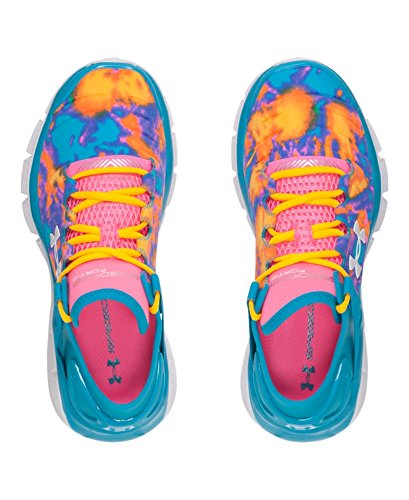 889362249131 - Kids Under Armour Speedform Fortis Atom Grade School, Bold Aqua/Pink, 3.5 Big Kid M carousel main 3