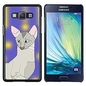 LECELL--Funda protectora / Cubierta / Piel For Samsung Galaxy A5 A5000 -- Sphynx Cat Art Pintura javanesa Azul --