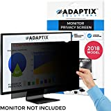 "Monitor Privacy Screen 24"" – Info Protection for Desktop Computer Security – Anti-Glare, Anti-Scratch, Blocks 96% UV – Matte or Gloss Finish Privacy Filter Protector – 16:10 by Adaptix (APS24.0W)"