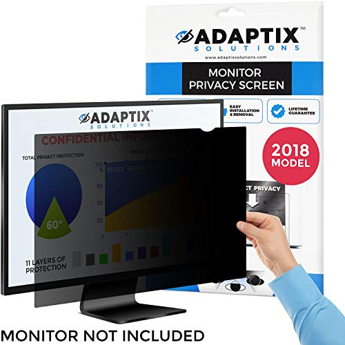 "Monitor Privacy Screen 24"" – Info Protection for Desktop Computer Security – Anti-Glare, Anti-Scratch, Blocks 96% UV – Matte or Gloss Finish Privacy Filter Protector – 16:10 by Adaptix (APS24.0W) by Adaptix"