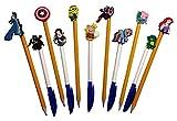 Sesame Street Pen Decoration Caps 6 Pcs Set #1